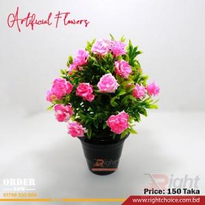 Artificial Pink Rose Flower