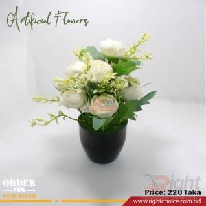 Artificial White Rose Flower
