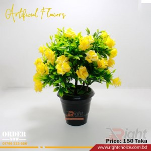 Artificial Yellow Color Rose Flower