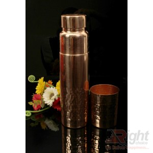 copper water bottle with glass(Combo _02)