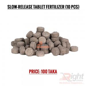 Slow release fertilizer tablet