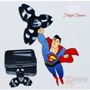 Fidget Spinner (Super Man-Black)