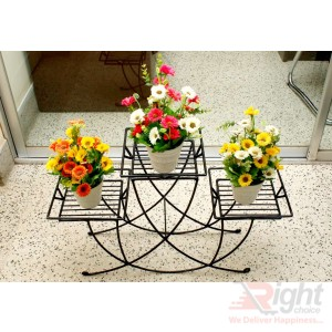 New Design Three tob stand with Artificial Flowers
