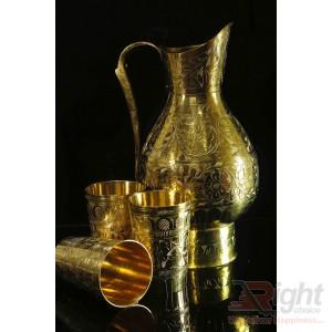 Handmade Custom Design Pitol Jug and Glass set