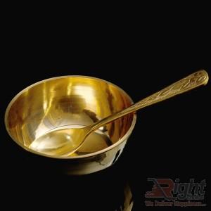 Hand Made Size kashar Bati   Spoon (Pitol)