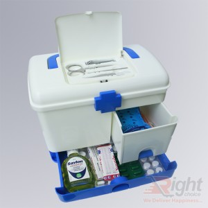 Portable Medicine Box with First-Aid Storage