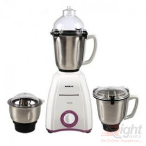 Havells Momenta 750W Mixer Grinder 3 SS Jars - White and Lavender