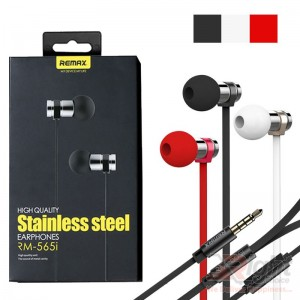 RM-565I STAINLESS STEEL STEREO EARPHONE