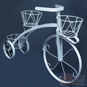 Bicycle shape Stand- White