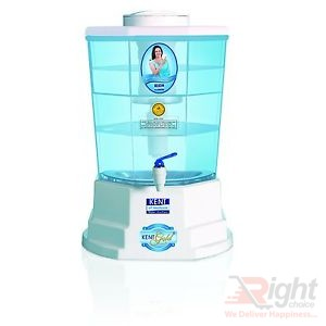 Kent Gold Plus Gravity Based UF Water Purifier 20L - White and Sky Blue