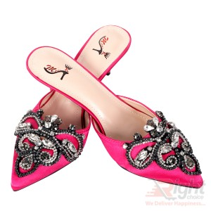 High heels ladies Pink color Shoe