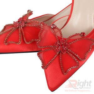 High heels ladies Red color Shoe