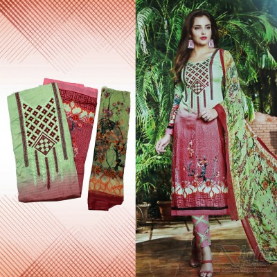 Cotton Salwar Kameez with Georgette Dopatta