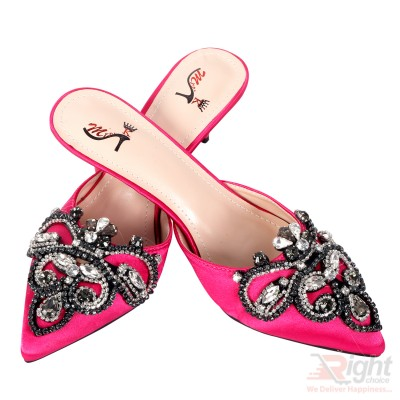 High heels ladies Pink color Shoe